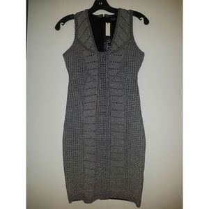 Parker Silver Body-Con Cocktail Dress (NWT)